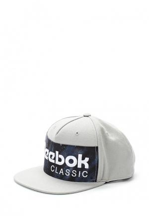 Бейсболка Reebok Classics. Цвет: серый