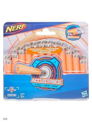 Нёрф АККУСТРАЙК: 24 Стрелы NERF. Цвет: рыжий