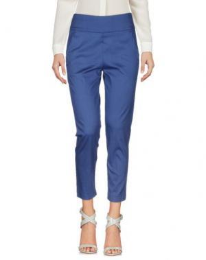 Повседневные брюки MIA SULIMAN. Цвет: синий