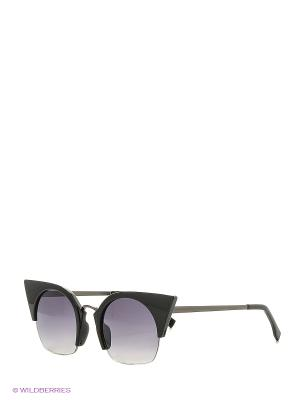Солнцезащитные очки Vita pelle. Цвет: серый, черный