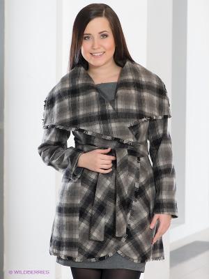 Пальто La Reine Blanche. Цвет: серый