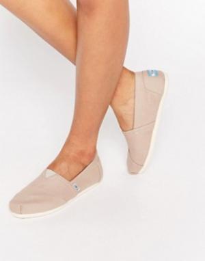 Toms Классические парусиновые туфли серого цвета на плоской подошве. Цвет: серый