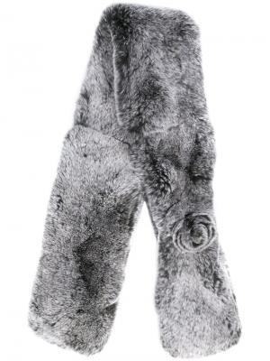 Меховая накидка N.Peal. Цвет: серый