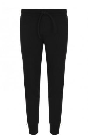 Хлопковые джоггеры с карманами и декоративной молнией RTA. Цвет: черный