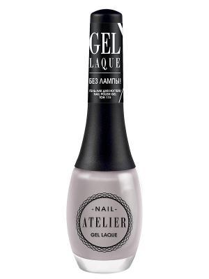 Гель-лак для ногтейNail Atelier тон 115, 12мл Vivienne Sabo. Цвет: серый