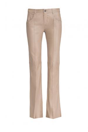 Кожаные брюки 160414 Jitrois. Цвет: бежевый