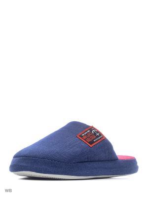 Тапочки Modis. Цвет: серо-голубой, синий