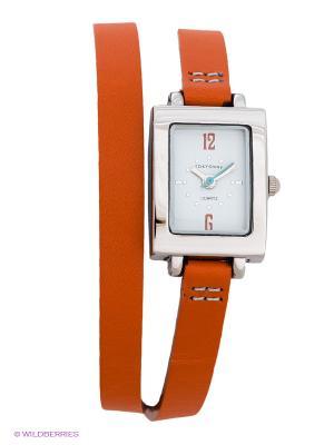 Часы TOKYObay. Цвет: оранжевый, серебристый