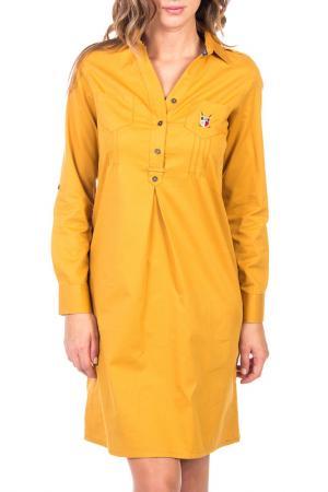 Платье POLO CLUB С.H.A.. Цвет: dark yellow