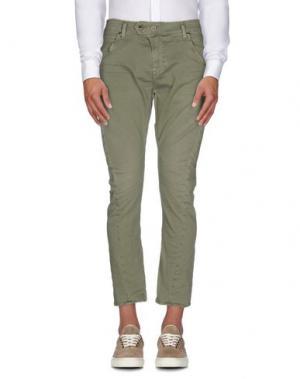 Повседневные брюки MELTIN POT. Цвет: зеленый-милитари