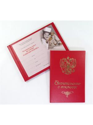 Комплект Медицинская Карта И Обложка Для Свидетельства О Рождении () Фолиант. Цвет: красный, белый