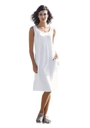 Платье B.C. BEST CONNECTIONS by Heine. Цвет: белый, джинсовый синий, серо-коричневый