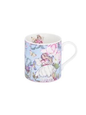 Кружка - подарок Цветочная фея Elan Gallery. Цвет: голубой, белый, розовый