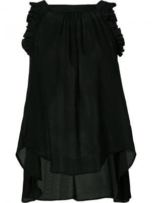 Блузка с рюшами Veronique Branquinho. Цвет: чёрный