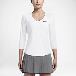 Женская теннисная футболка Court Pure Nike. Цвет: белый