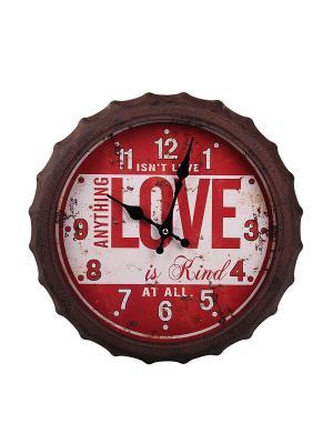 Часы настенные PATRICIA. Цвет: коричневый, белый, красный