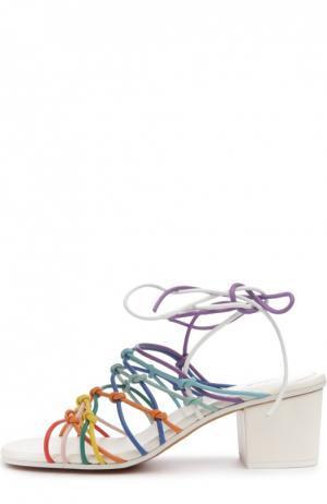Босоножки Jamie на устойчивом каблуке Chloé. Цвет: разноцветный