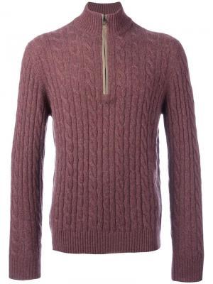 Джемпер на молнии Loro Piana. Цвет: розовый и фиолетовый