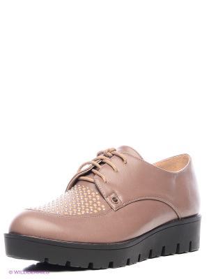 Туфли INARIO. Цвет: коричневый