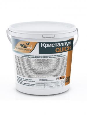 Дезинфицирующее средство Кристалпул QUICK для бассейнов табл. 20 г 0,8 кг. Цвет: белый