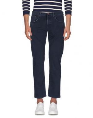 Джинсовые брюки (+) PEOPLE. Цвет: темно-синий