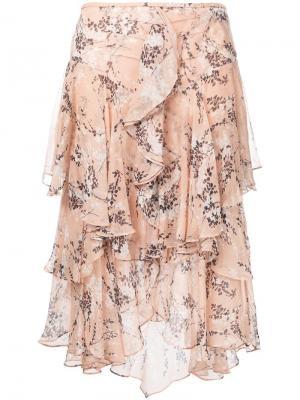 Драпированная юбка Jason Wu. Цвет: телесный