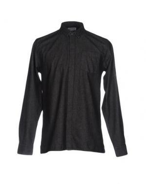 Джинсовая рубашка ONTOUR. Цвет: черный