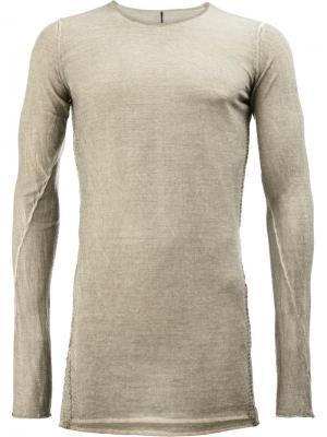 Джемпер с длинными рукавами Rock Masnada. Цвет: коричневый