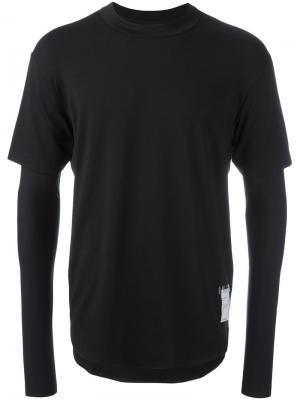 Двухслойная футболка Light Satisfy. Цвет: чёрный
