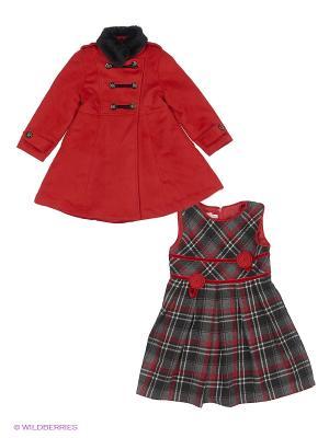 Пальто Baby Steen. Цвет: бордовый