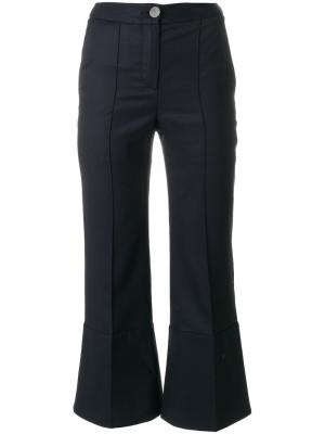 Укороченные брюки клеш Eudon Choi. Цвет: синий