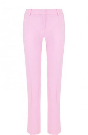Однотонные укороченные брюки со стрелками Emilio Pucci. Цвет: розовый