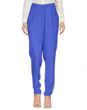 Повседневные брюки KORALLINE. Цвет: ярко-синий