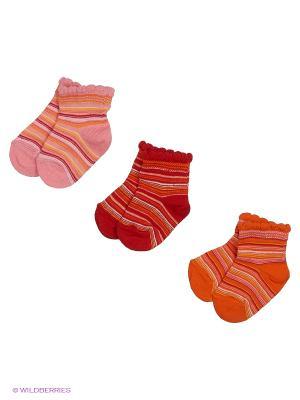 Носки, 3 пары Гамма. Цвет: красный, коралловый, оранжевый