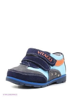 Кроссовки Vitacci. Цвет: голубой