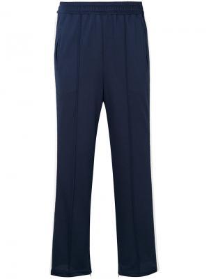 Спортивные брюки с лампасами Ganni. Цвет: синий