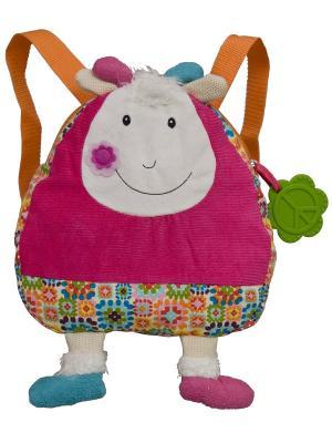 Рюкзачок Козочка Жужу Ebulobo. Цвет: голубой, бежевый, молочный, розовый, светло-голубой