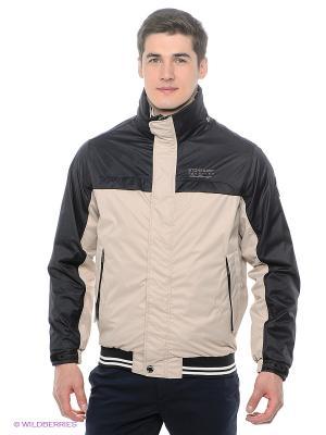 Куртка Stonecast. Цвет: темно-синий, светло-бежевый