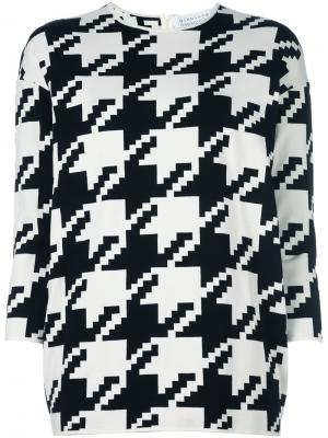 Пуловер в ломаную клетку Gianluca Capannolo. Цвет: чёрный