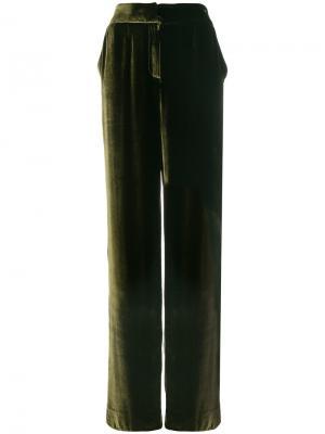 Широкие брюки Rhea Costa. Цвет: зелёный