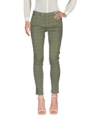 Повседневные брюки BONHEUR. Цвет: зеленый-милитари
