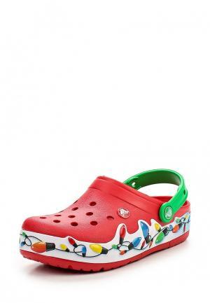 Сабо Crocs. Цвет: красный