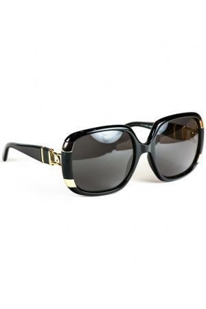 Очки солнцезащитные Loewe. Цвет: черный