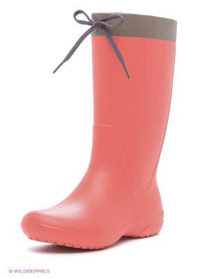 Резиновые сапоги CROCS. Цвет: красный