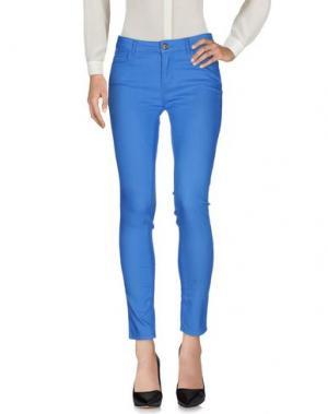 Повседневные брюки MAISON ESPIN. Цвет: лазурный