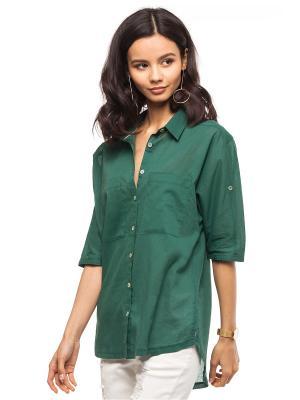 Блузка VILATTE. Цвет: зеленый