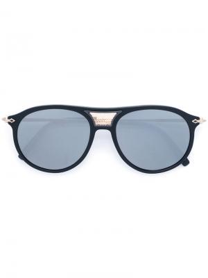Солнцезащитные очки со съемными деталями Matsuda. Цвет: чёрный