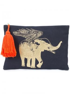 Клатч со слоном Figue. Цвет: синий
