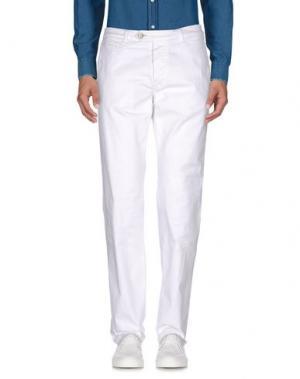 Повседневные брюки D-21. Цвет: белый