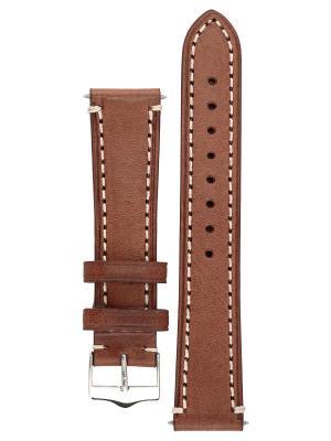 Брутальный ремешок для часов из цельного куска кожи теленка. Ширина от 18 до 26 мм. Signature. Цвет: коричневый